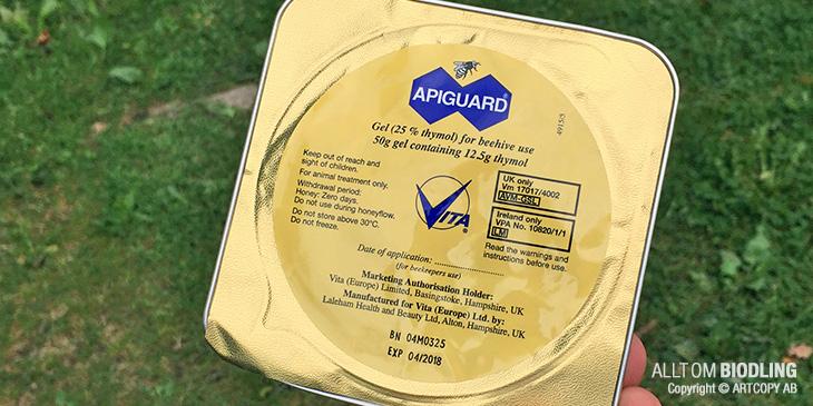 Apiguard - Thymol - Tymol - Varroa - Varroabekämpning - Varroabehandling