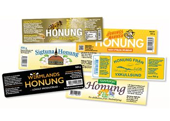 Honung Etikett - Honungsetiketter