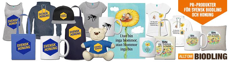 PR-Produkter för Svensk biodling, biodlare och honung.