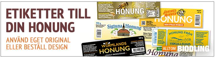 Honungsetiketter - Etiketter Honung - Tryck egna etiketter - Trycka etikett